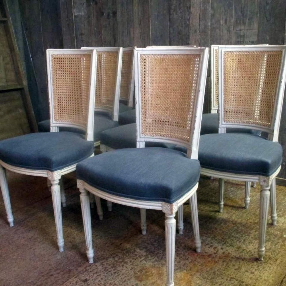 8 alte Stühle Louis XVI