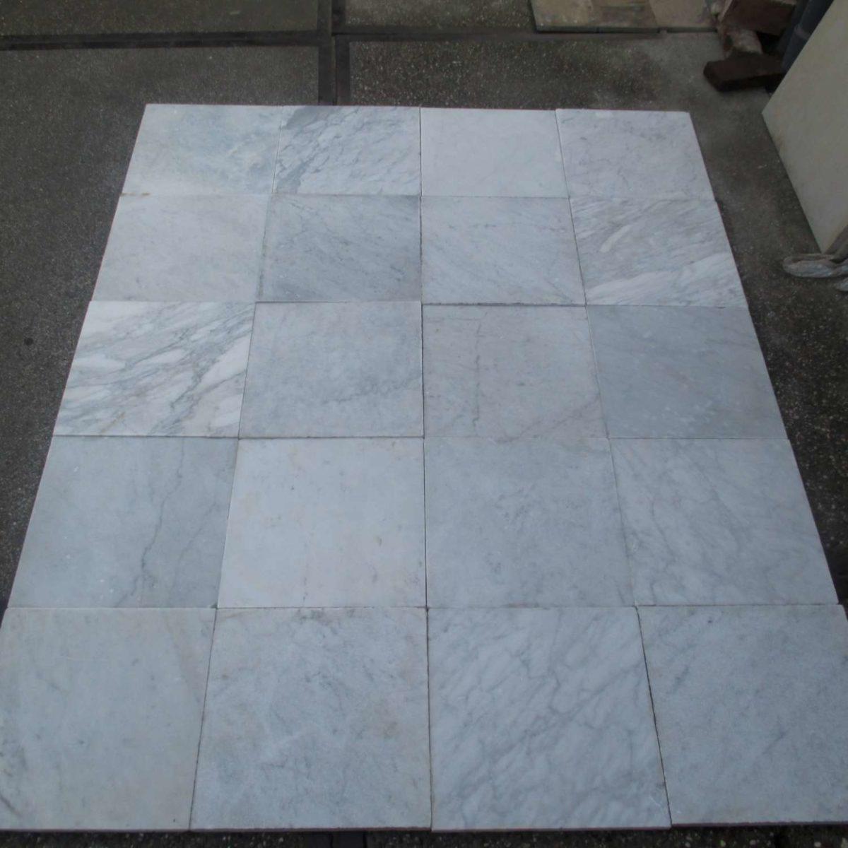 Alte Carrara Marmor Fliesen 40 x 40 cm Piet Jonker