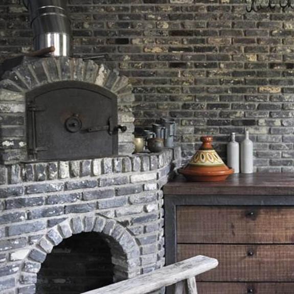 Alte graue Mauersteine