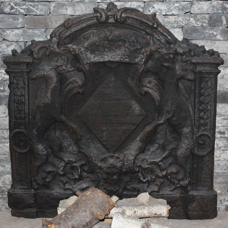 Antike Kaminplatte