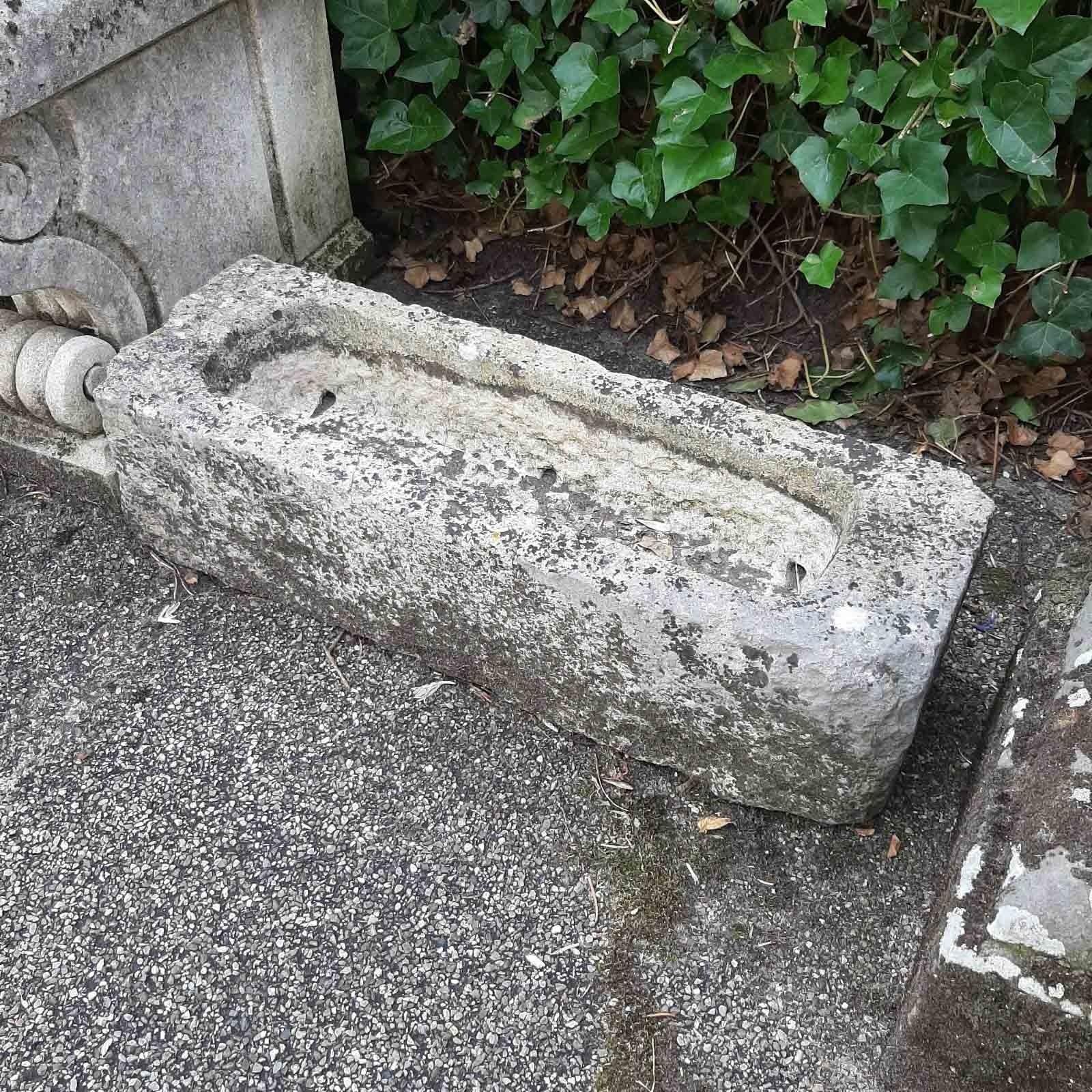 Antike mini Troge aus Französische Kalkstein