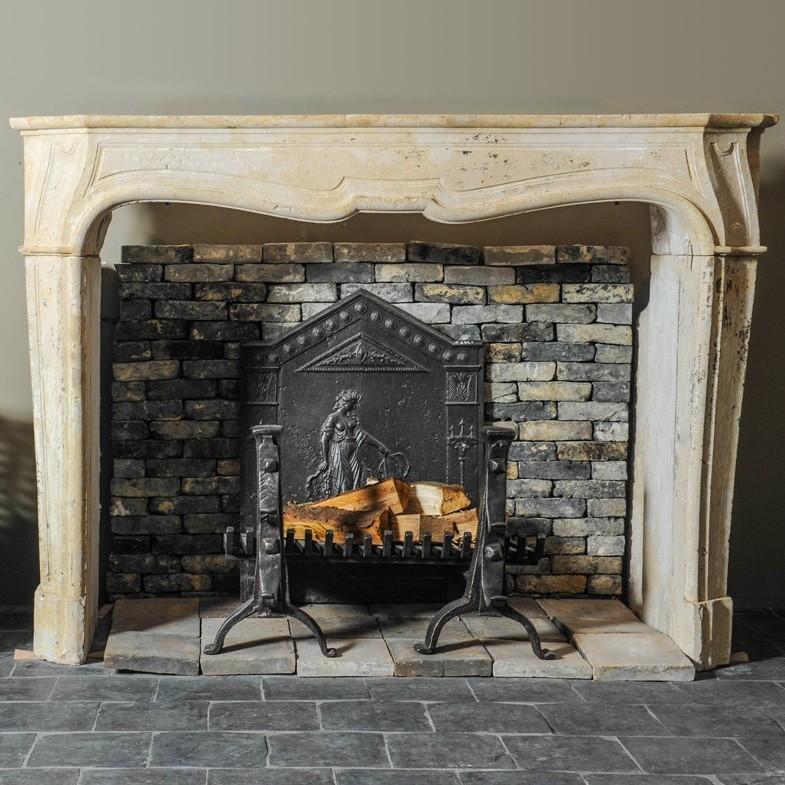 Französisch Kalksteinkamin Barock Still