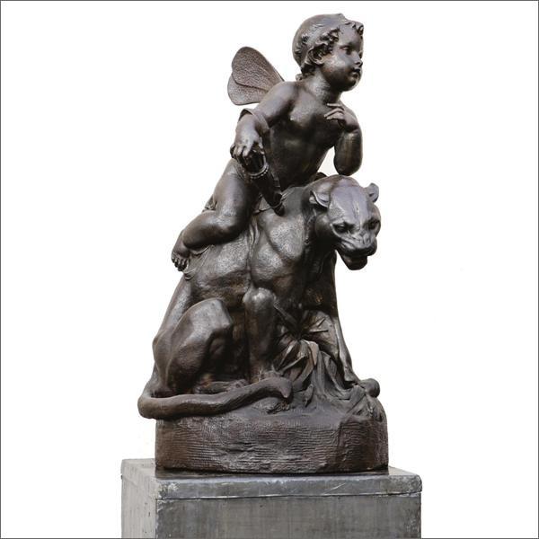 Gusseiserne Skulptur