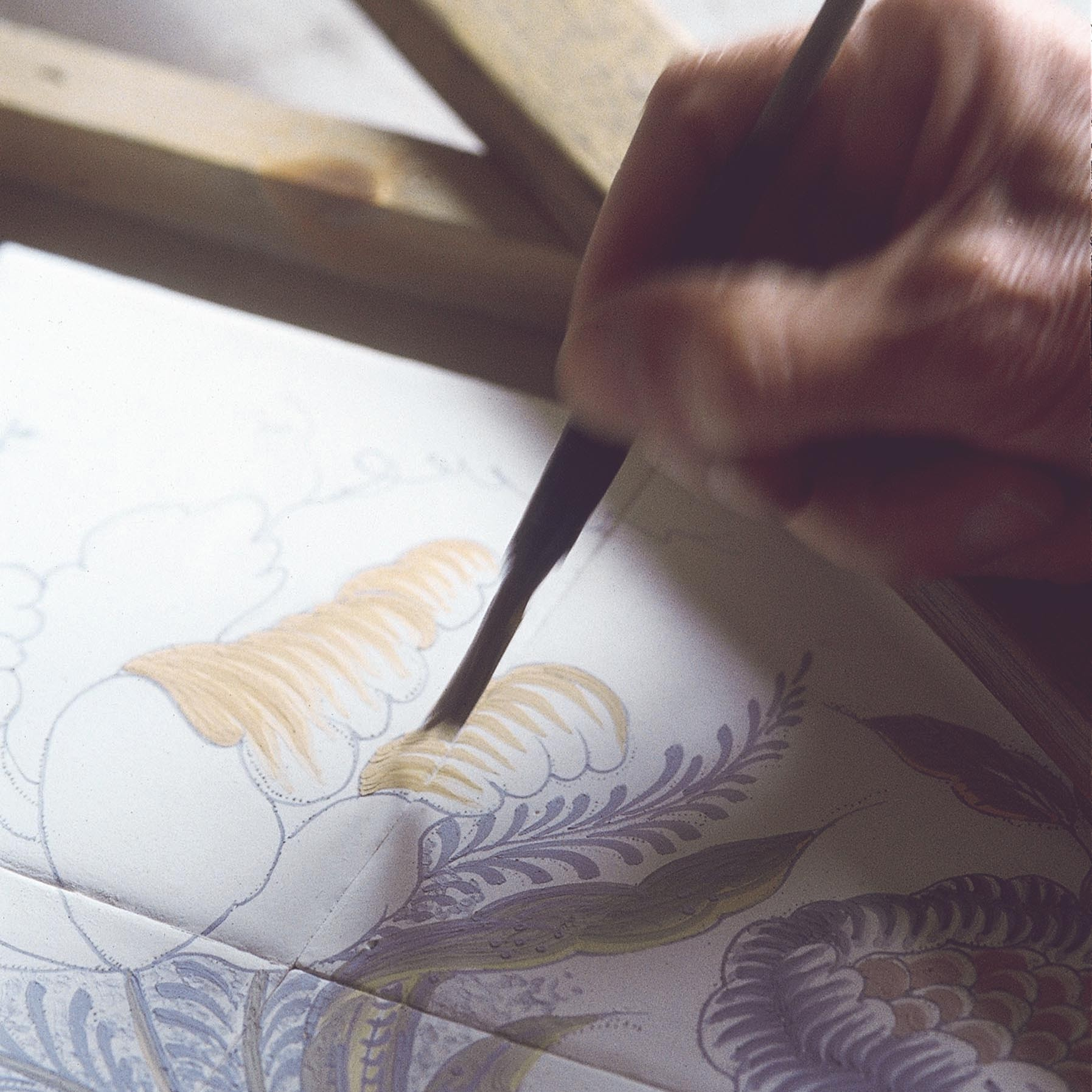 Handbemalte Wandfliesen