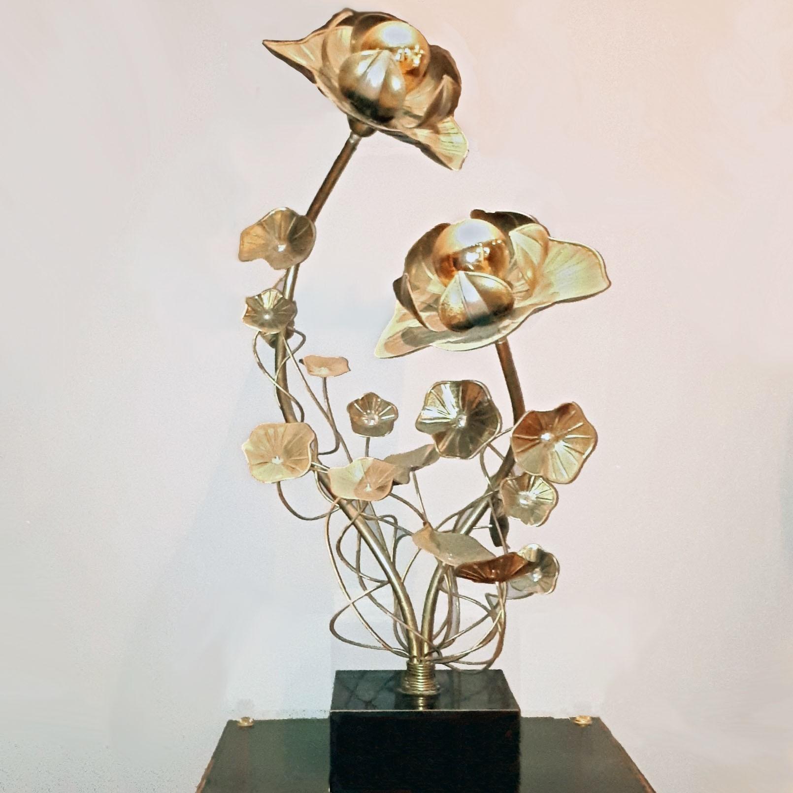 Maison Jansen Messing Tischlampe oder Stehlampe