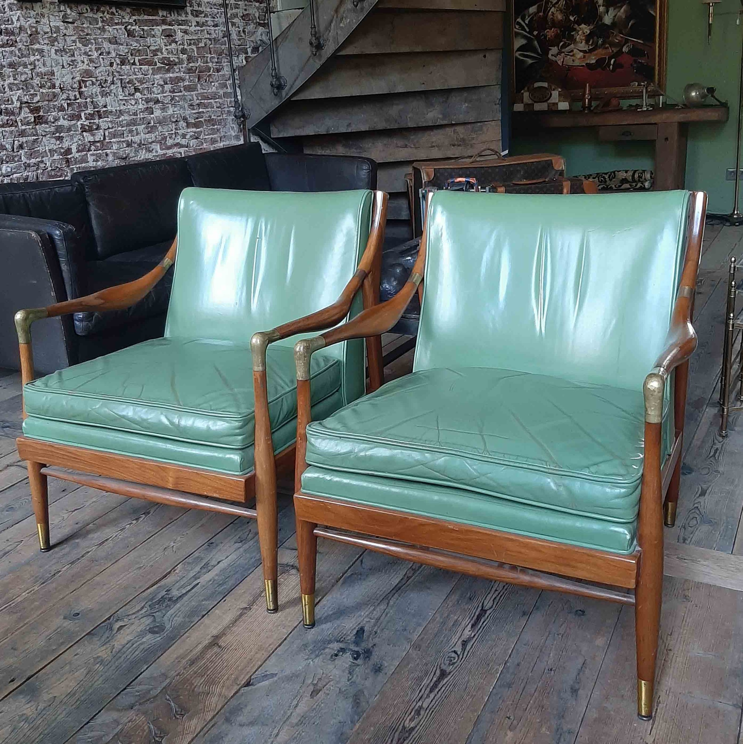 Paar dänische Kodof-Larsen-Sessel aus den 60er Jahren