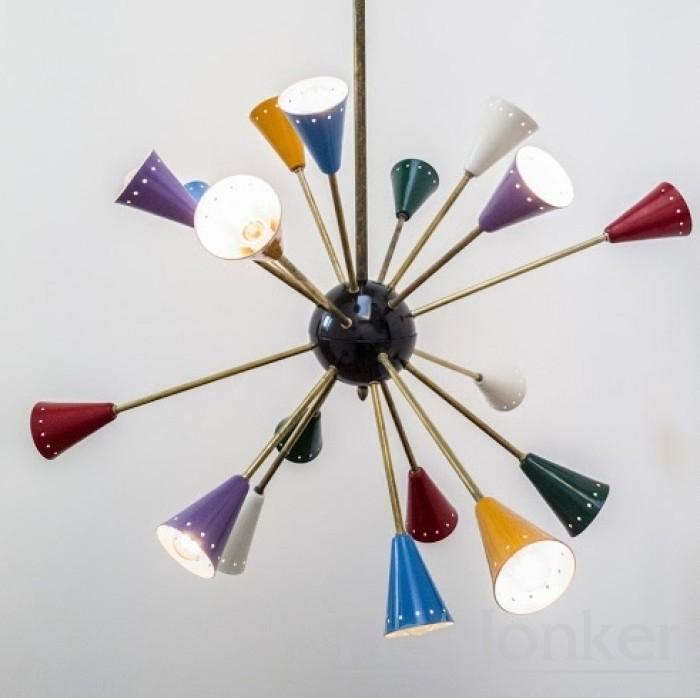 Vintage Design Stillnovo Sputnik Spider Lampe aus den 60er Jahren.